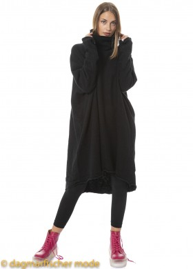 One size cashmere tunic by RUNDHOLZ in black, candy & toffee