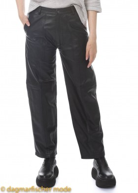 Leather pants All Will Pass Away by BLACK BY K&M in Plain Black
