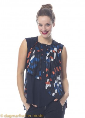 Top Trace by HIGH in midnight blue patterned
