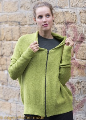 Strickjacke Zombat von nook... in lime