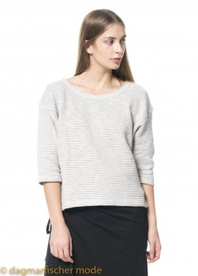 Pullover Cloud Dancer von BLACK BY K&M in Plain Vapor