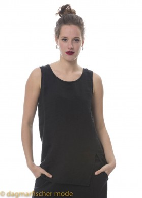 Top Go Touch The Sky von BLACK BY K&M in Plain Black