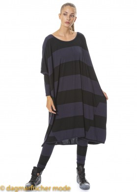 Oversize Tunika PICK UP THAT PHONE von BLACK by K&M in black with ink