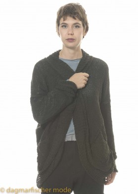 Strickcardigan von Umit Unal in dark green